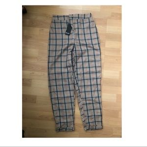 Nasty gal plaid trousers